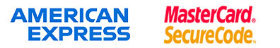 american express | mastercard security logo