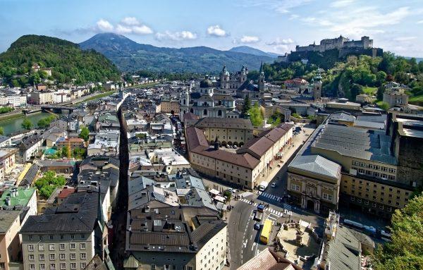 Avio karte Niš Salzburg panorama iz vazduha