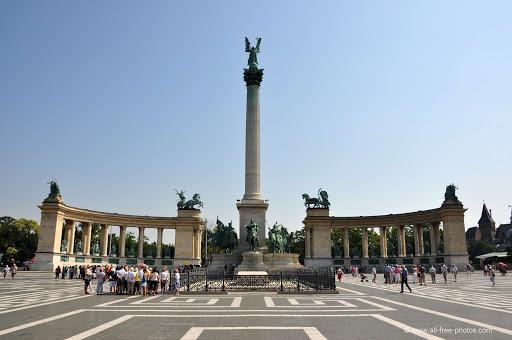Budimpešta putovanje, veličanstveni trg Trg Heroja