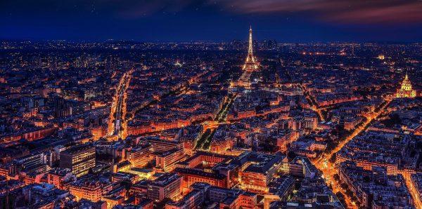 Avio karte Beograd Pariz grad svetlosti nocu iz vazduha