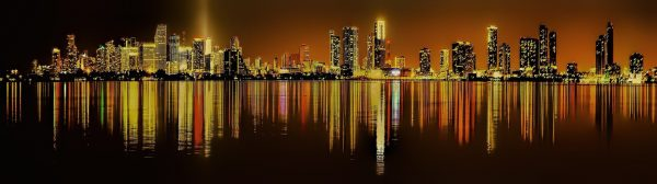 Avio karte Beograd Majami panorama nocu